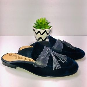 Sam Edelman Paris Tassel Navy Loafer Shoes
